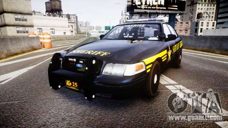 Ford Crown Victoria Sheriff [ELS] black for GTA 4