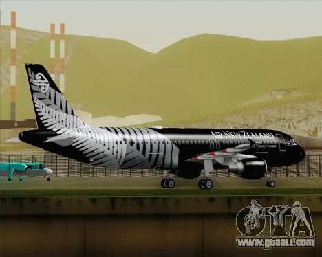Airbus A320-200 Air New Zealand for GTA San Andreas