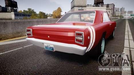 Dodge Dart HEMI Super Stock 1968 rims2 for GTA 4 back left view