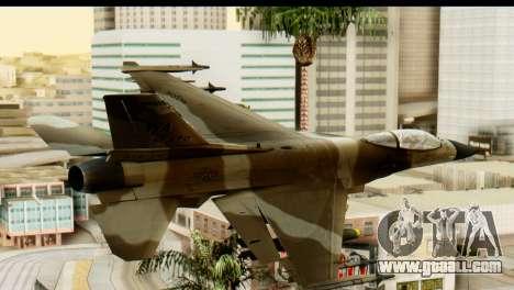 F-16 Fighter-Bomber Desert Camo for GTA San Andreas left view