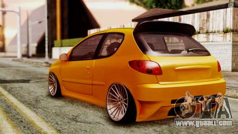 Peugeot 206 Camber Style for GTA San Andreas left view