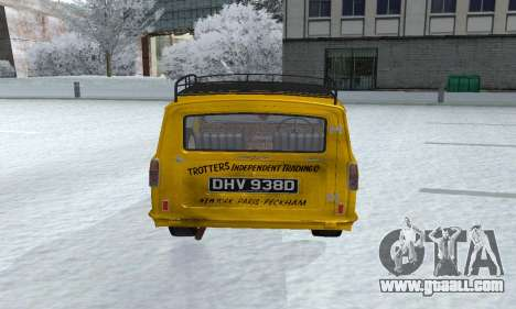 Reliant Supervan Only Fools and Horses for GTA San Andreas back view