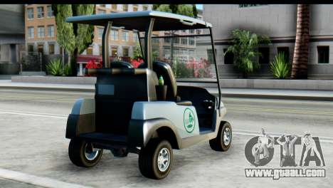 GTA 5 Caddy v2 for GTA San Andreas left view