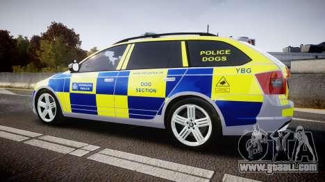 Skoda Octavia Combi vRS 2014 [ELS] Dog Unit for GTA 4 left view