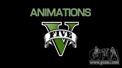 Animations GTA V for GTA San Andreas