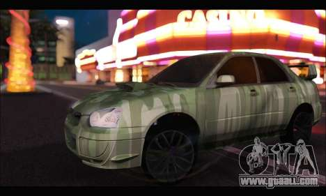 Subaru Impreza WRX Camo for GTA San Andreas left view