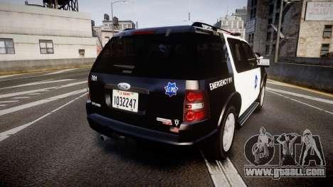 Ford Explorer 2008 LCPD [ELS] for GTA 4 back left view