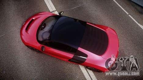 Audi R8 E-Tron 2014 dual tone for GTA 4 right view