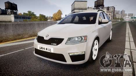 Skoda Octavia Combi vRS 2014 [ELS] Unmarked for GTA 4