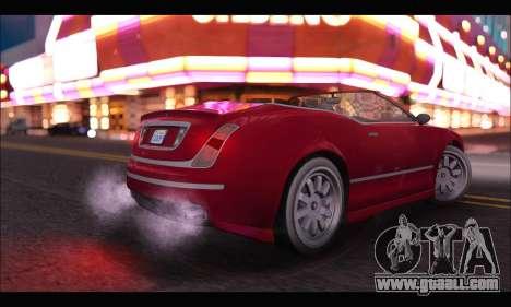 Enus Cognoscenti Cabrio (GTA V) for GTA San Andreas back left view