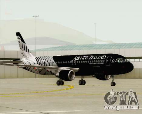 Airbus A320-200 Air New Zealand for GTA San Andreas inner view