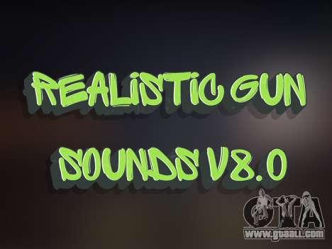 Realistic Gun Sounds v8.0 for GTA San Andreas