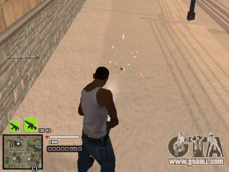 A simple C-HUD for GTA San Andreas