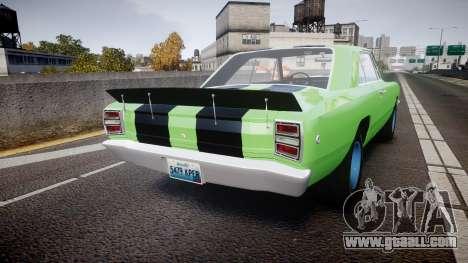 Dodge Dart HEMI Super Stock 1968 rims3 for GTA 4 back left view