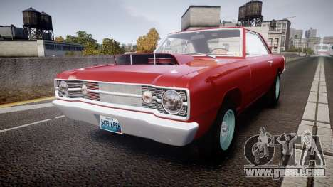 Dodge Dart HEMI Super Stock 1968 rims2 for GTA 4