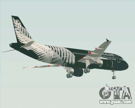 Airbus A320-200 Air New Zealand for GTA San Andreas right view