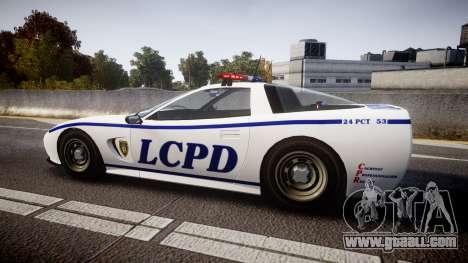 Invetero Coquette Police Interceptor [ELS] for GTA 4 left view