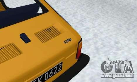 Fiat 126p FL for GTA San Andreas inner view
