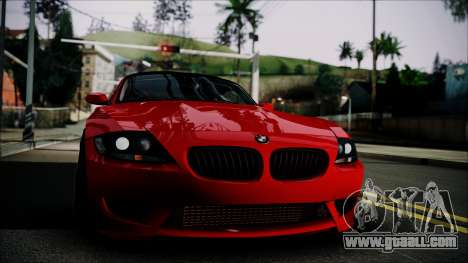 BMW Z4 M85 for GTA San Andreas back left view