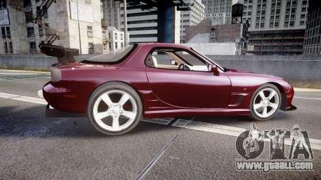 Mazda RX-7 Custom for GTA 4 left view