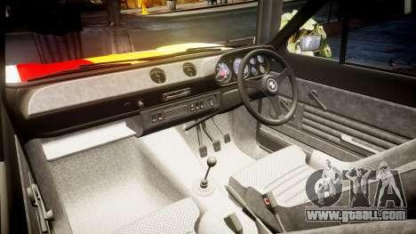 Ford Escort RS1600 PJ94 for GTA 4 inner view
