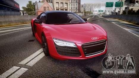 Audi R8 E-Tron 2014 dual tone for GTA 4