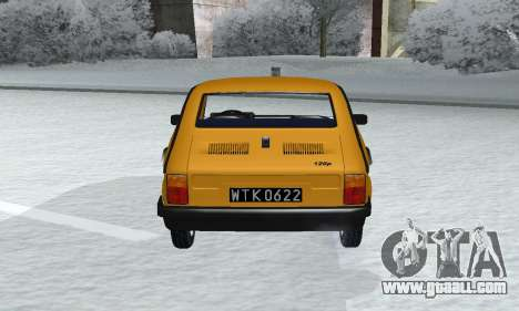 Fiat 126p FL for GTA San Andreas back view