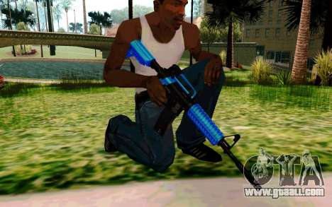 M4 Blue for GTA San Andreas forth screenshot