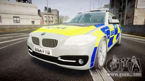 BMW 525d F11 2014 Metropolitan Police [ELS] for GTA 4
