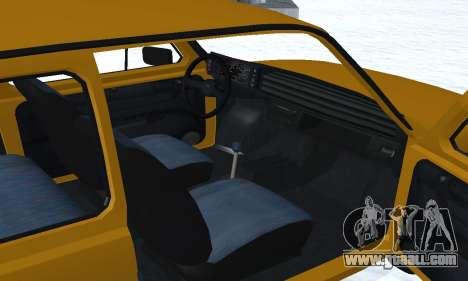 Fiat 126p FL for GTA San Andreas bottom view