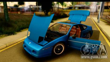 Pontiac Fiero GT G97 1985 IVF for GTA San Andreas inner view
