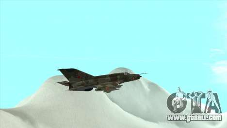 MiG 21 the Soviet air force for GTA San Andreas side view