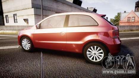 Volkswagen Gol G6 iTrend 2014 rims1 for GTA 4 left view