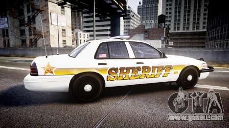 Ford Crown Victoria Sheriff Liberty [ELS] for GTA 4 left view