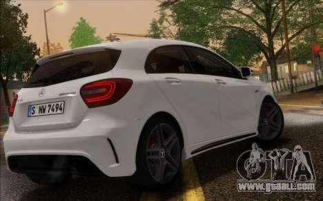 Mercedes-Benz A45 AMG for GTA San Andreas inner view