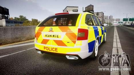 Skoda Octavia Combi vRS 2014 [ELS] Traffic Unit for GTA 4 back left view