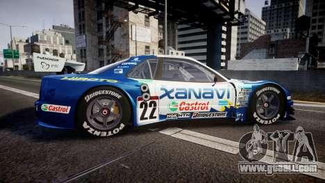 Nissan Skyline R34 2003 JGTC Xanavi Hiroto for GTA 4 left view