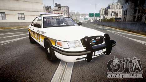 Ford Crown Victoria Sheriff Liberty [ELS] for GTA 4