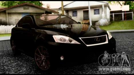 Lexus IS-F for GTA San Andreas back view