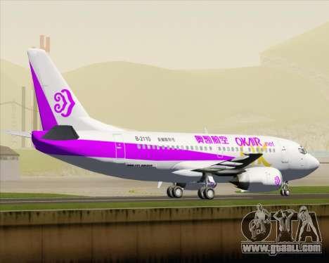 Boeing 737-500 Okay Airways for GTA San Andreas