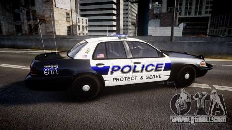 Ford Crown Victoria Police Algonquin [ELS] for GTA 4 left view