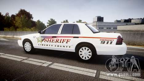 Ford Crown Victoria Sheriff [ELS] rims2 for GTA 4 left view