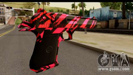 Red Tiger Desert Eagle for GTA San Andreas second screenshot