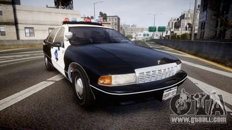 Chevrolet Caprice 1990 LCPD [ELS] Traffic for GTA 4