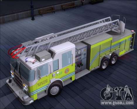 Pierce Arrow XT Miami Dade FD Ladder 22 for GTA San Andreas back view