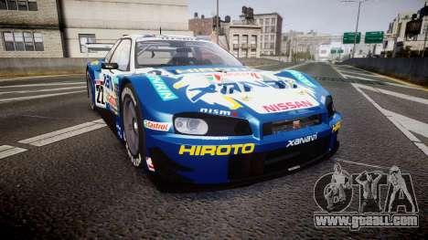 Nissan Skyline R34 2003 JGTC Xanavi Hiroto for GTA 4