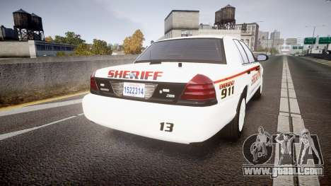 Ford Crown Victoria Sheriff [ELS] rims2 for GTA 4 back left view