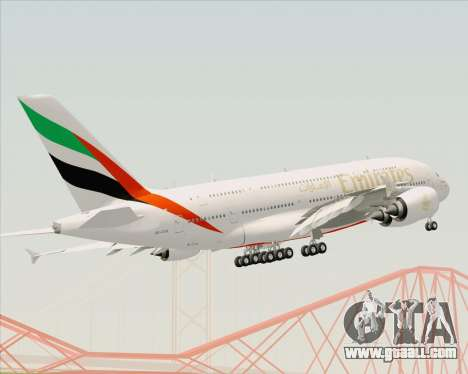 Airbus A380-800 Emirates (A6-EDH) for GTA San Andreas upper view