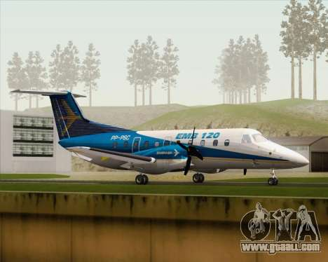 Embraer EMB 120 Brasilia Embraer Livery for GTA San Andreas left view