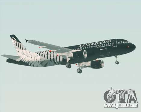 Airbus A320-200 Air New Zealand for GTA San Andreas bottom view